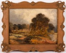 19TH CENTURY ENGLISH SCHOOL Welford, Northamptonshire, oil on board, unsigned to the front, titled
