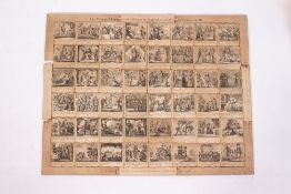 A GEORGE III BLACK AND WHITE JIGSAW PUZZLE displaying 'The Principle Events in the History of
