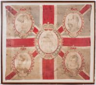A LATE 19TH CENTURY QUEEN VICTORIA DIAMOND JUBILEE FLAG depicting the Duke of York, Price Edward