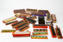 A COLLECTION OF LATE 19TH / EARLY 20TH CENTURY ERNST PLANK MAGIC LANTERN SLIDES mainly cartoon