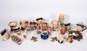 A COLLECTION OF SEVENTEEN CHARACTER JUGS to include Royal Doulton and Shorter & Son together with