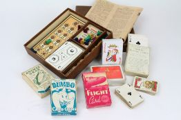 A SMALL GROUP OF VINTAGE GAMES to include 'The Game for Everyone'; 'Plus and Minus'; 'Animal