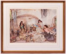 SIR WILLIAM RUSSELL FLINT Two decorative signed lithographs, the smaller 44.5cm x 61cm; the larger
