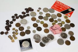 A COLLECTION OF ANTIQUE AND LATER COINS to include 1972 crowns, 1977 crowns, Churchill crowns, an
