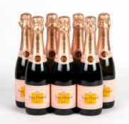 SEVEN BOTTLES OF HALVES VEUVE CLICQUOT PONSADIN ROSE At present, there is no condition report