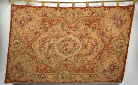 AN AUBUSSON STYLE TAPESTRY PANEL 175cm x 117cm Condition: in good condition