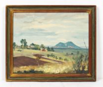 LATE 20TH CENTURY SCHOOL continental landscape, oil on canvas, indistinctly signed and dated 1981