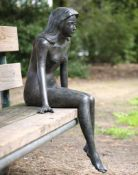 21ST CENTURY SCHOOL 19, patinated bronze, indistinctly signed, 58cm wide x 83cm high Condition: Good