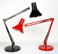 TWO HCF DANISH TYPE 85 ANGLEPOISE LAMPS Condition: one with a loose base, having cracks to the