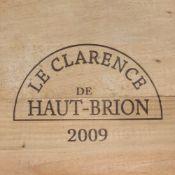 CHATEAU LE CLARENCE DE HAUT-BRION, PESSAC-LEOGNAN 2009, 6 bottles Sealed in original pine crate,