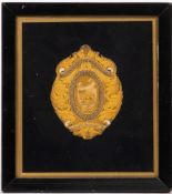 AN EMBROIDERED GOLD THREAD DECORATED BADGE for The Incorporated Society of The National Federation