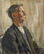 LENA ROBB (1891-1980) The Pensioner, oil on canvas, signed upper right, 60cm x 49.5cm Condition: the