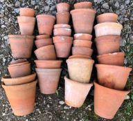 A COLLECTION OF TERRACOTTA PLANT POTS At present, there is no condition report prepared for this lot