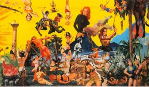 PURE EVIL (b.1968) 'Sex and Moderate Violence', serigraph in colours, signed in pencil in the margin