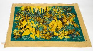 A MID TO LATE 20TH CENTURY TAPESTRY EMBROIDERED PANEL signed Herve Lelong, decorated with flowers