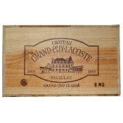 CHATEAU GRAND - PUY- LACOSTE, Pauillac Grand Cru Classe 6 magnums Sealed in original pine crate,