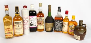 SPIRITS AND LIQUEURS to include Goslings Black Seal 160 US proof rum, Chateau d'Uffaut Grande