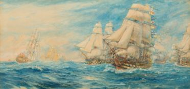 GEORGE COCHRANE KERR (1850-1930) 'Lord Nelson returning with the fleet from the West Indies',