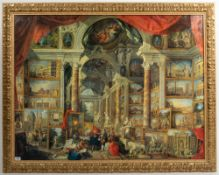 A DECORATIVE GILT FRAMED CLASSICAL PRINT 112cm x 140cm Condition: in good condition