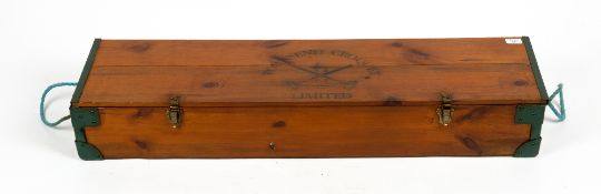 A TOWNSEND CROQUET LIMITED CROQUET SET in original pine box Condition: in good condition, with minor