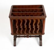 AN EARLY 20TH CENTURY MAHOGANY CANTERBURY 48cm wide x 37cm deep x 55cm high Condition: small piece
