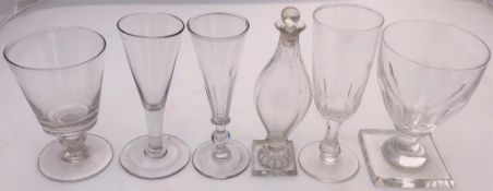 A COLLECTION OF 19TH CENTURY AND LATER GLASSWARE