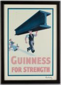 A SET OF SIX GUINNESS ADVERTISING POSTERS after the originals by John Gilroy,