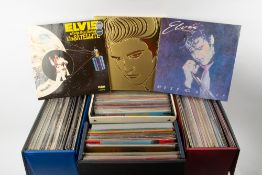 AN INTERESTING COLLECTION OF APPROXIMATELY 120 ELVIS PRESLEY LP'S INCLUDING TWO BOXED SETS