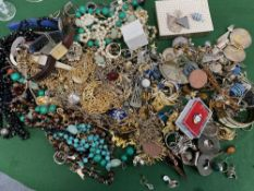 A LARGE COLLECTION OF COSTUME JEWELLERY AND SILVER JEWELLERY At present, there is no condition