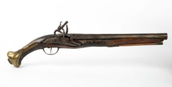A FLINTLOCK PISTOL 49cm in length Condition: possible alterations, wear, marks, repairs, for