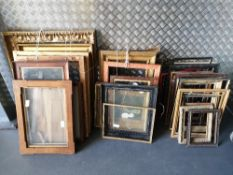 A COLLECTION OF APPROXIMATELY 40 VARIOUS PICTURE FRAMES 19th century and later Condition: all in