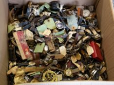 A LARGE COLLECTION OF MID 20TH CENTURY AND LATER WRISTWATCHES, POCKET WATCHES AND PARTS Condition:
