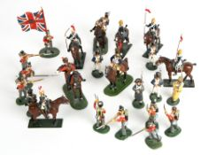A COLLECTION OF BRITIANS AND FRONT LINE LEAD SOLDIERS Condition: all generally good condition,