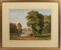 SIR TATTON SYKES engraving after a painting by Harry Hall, 43cm x 50cm, framed and glazed, overall