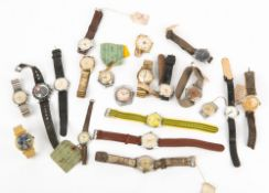 A COLLECTION OF 1950'S AND LATER WRISTWATCHES to include a Snoopy United Feature Syndicate