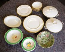 A WEDGWOOD BONE CHINA CALIFORNIA PATTERN SIX PIECE DINNER SERVICE At present there is no condition