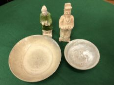 A GROUP OF FOUR PIECES OF ORIENTAL CERAMIC