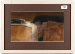 SALLIANN PUTMAN (b.1937) 'Landscape, Tuscany', signed, watercolour, 19cm x 34cm At present, there is