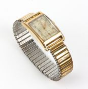 AN EARLY TO MID 20TH CENTURY LORD ELGIN GENTS WRIST WATCH the dial with arabic numerals and a