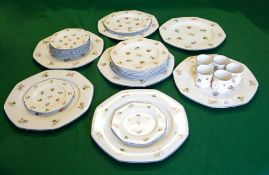 WEDGWOOD PORCELAIN DINNER WARES Springtime pattern to include seven dinner plates, ten dessert