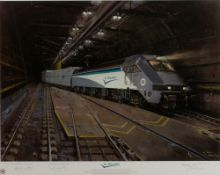 TERRENCE CUNEO Le Shuttle, a Eurotunnel commemorative limited edition print, signed by the artist,