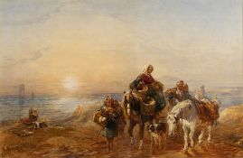 Attributed to John Frederick Taylor (1802-1891) 'Returning Home' watercolour, unsigned, 33cm x 50cm