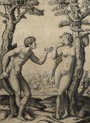 After Marcantonio Raimondi (Italian ca. 1480 - before 1534) Engraving after Raphael (Raffaelo Sanzio