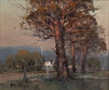 James Wynne (Australian b 1944) Sunset, oil on canvas, signed 24cm x 29cm, and Luther Marais (1935-