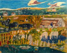 Buttercup Garrad (20th Century School) Five watercolours of continental scenes and studies,