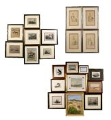 Collection of prints, pictures and engravings of various sizes, all framed (20)