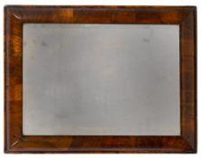 Cushion framed mirror 19th Century, walnut, with original mirror plate, 53cm x 40cm