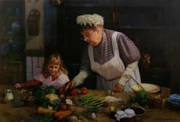 David Shepherd (1931-2017) 'Granny's Kitchen' limited edition print, signed and numbered 995/1500 in