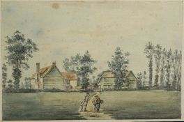 Paul Sandby RA (British, 1731-1809) ''Mill Hill, Middlesex'' pen, ink, and watercolour, 18.5cm x