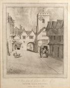 E. Howarth after John Baptiste Malchair (1731-1812) 'Magdalen Bridge in its old state' 41cm x